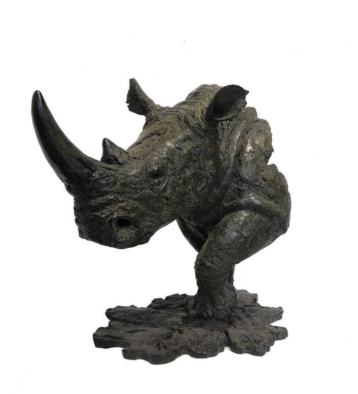 Pierre-Jean CHABERT - Sculpture-Volume - Rhino blanc