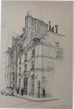 Andor SZÉKELY VON DOBA - Drawing-Watercolor - LOGIS ROMANTIQUES 2 : RUE DE LILLE