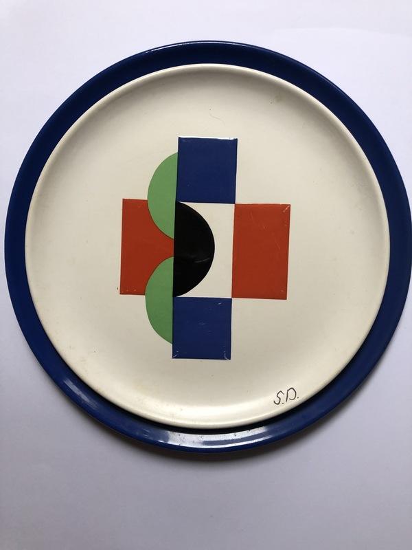Sonia DELAUNAY-TERK - Ceramiche -  6 ASSIETTES ET 6 SOUS ASSIETTES