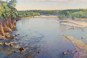 Samuel John Lamorna BIRCH - Painting - The Shimmering Spey