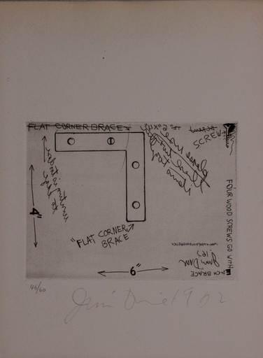 Jim DINE - Print-Multiple - Flat corner brace