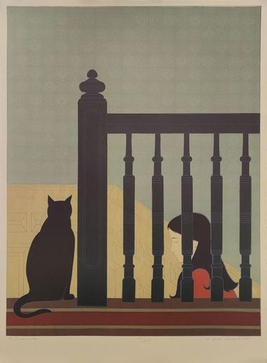 Will R. BARNET - Stampa-Multiplo - The Bannister
