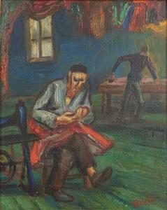 Abram TROMKA - Painting - The Tailor