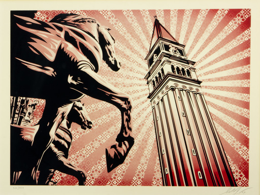 Shepard FAIREY - Stampa-Multiplo - ST. MARKS HORSES
