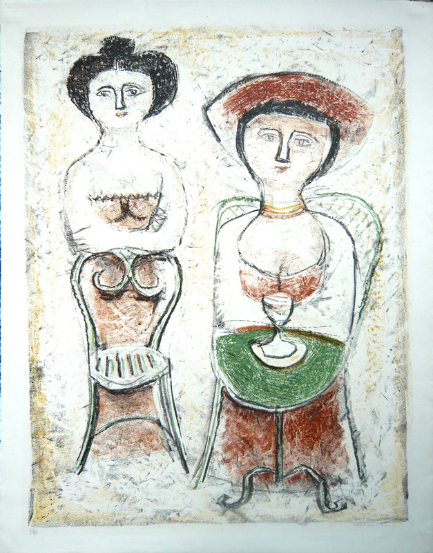 Massimo CAMPIGLI - Druckgrafik-Multiple - Due donne