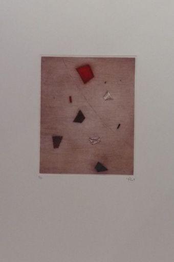 Arthur Luiz PIZA - Estampe-Multiple - Le rouge d'en haut