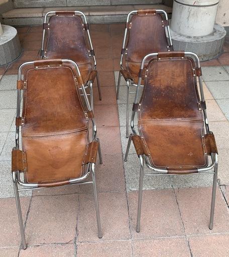 Charlotte PERRIAND - Paire de chaises Les Arcs - 1960