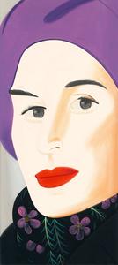 Alex KATZ - Estampe-Multiple - Purple Hat (Ada)