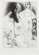 Pablo PICASSO - Print-Multiple - Odalisques avec deux hommes rêvant; Pl.7 from 'Séries 347'