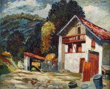 Maurice VAGH WEINMANN - Pintura - Cour de ferme