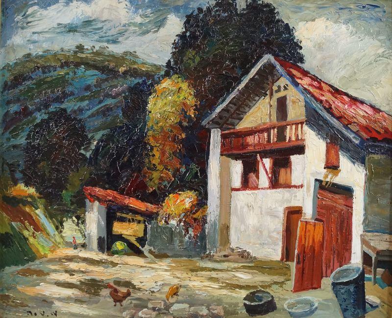 Maurice VAGH WEINMANN - Painting - Cour de ferme