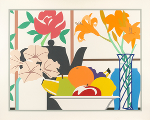 Tom WESSELMANN, Still Life with Petunias, Lilies and Fruit