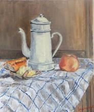 Anne DE LARMINAT - Painting - La cafetière 1