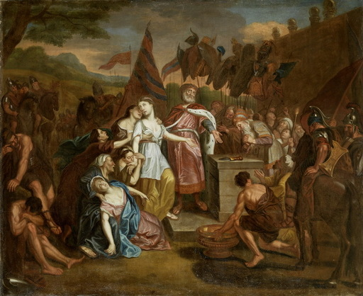 Antoine COYPEL (Attrib.) - Peinture - Opferung der Iphigenie