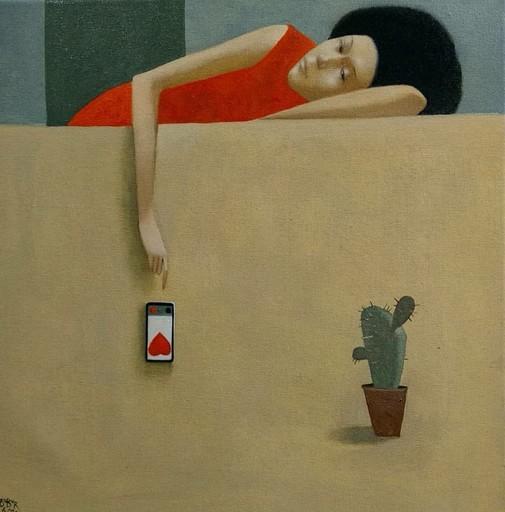 Bobur ISMOILOV - Peinture - The Phone Call