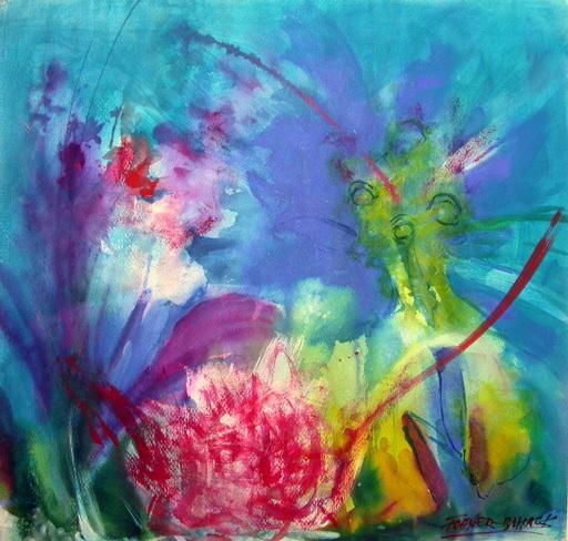 Franz FOHNER-BIHACK - Disegno Acquarello - Gartenblume