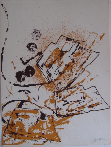 Fernandez ARMAN - Stampa-Multiplo - LITHOGRAPHIE SIGNÉE AU CRAYON NUM/300 HANDSIGNED LITHOGRAPH