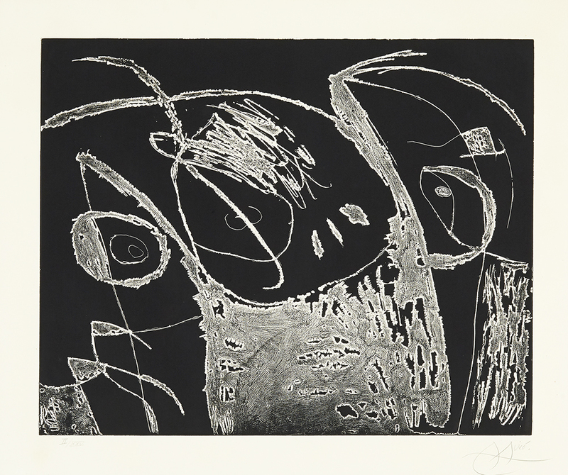 Joan MIRO - Print-Multiple - Serie Mallorca - Negro y blanco IX