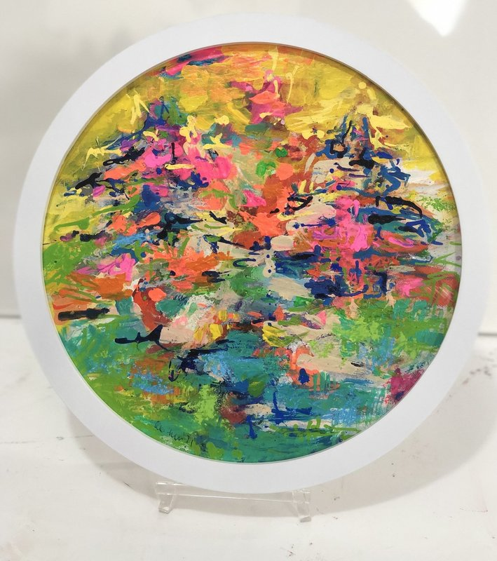 Nicole LEIDENFROST - Gemälde - Bäume am See