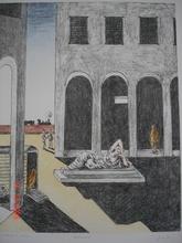 Giorgio DE CHIRICO - Grabado - Malinconia