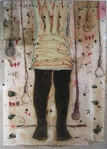 Didier HAGEGE - Painting - Jambe