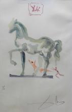 Salvador DALI (1904-1989) - L'art D'aimer C'est la que L'amour se plut a Livrer Bataille