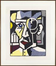 Roy LICHTENSTEIN - Print-Multiple - Dr Waldman, from Expressionist Woodcut Series