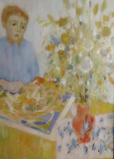 Odette DERAY - Painting - Le Fils de la concierge