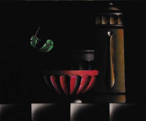 Mario AVATI - Druckgrafik-Multiple - Maniere noire a la plume folatre