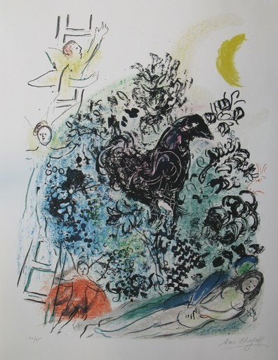 Marc CHAGALL - Estampe-Multiple - *Les Amoureux