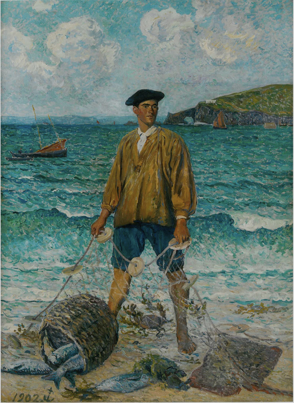 Maxime MAUFRA - Painting - Le pêcheur