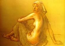 Robert BRACKMAN - Grabado - Nude