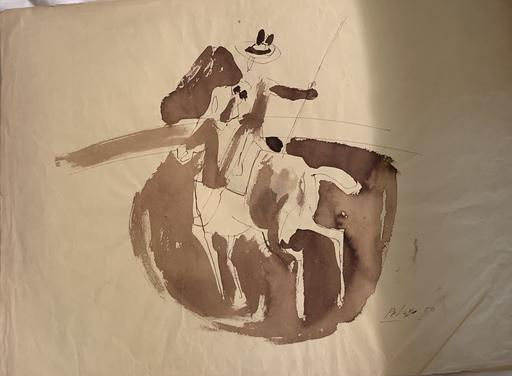 "Orlando PELAYO ENTRIALGO - Dibujo Acuarela - ""El picador"""