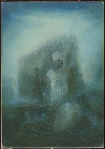 Klaus DIETRICH - Painting - HUILE SUR TOILE SIGNÉE HANDSIGNED OIL PAINTING ON CANVAS