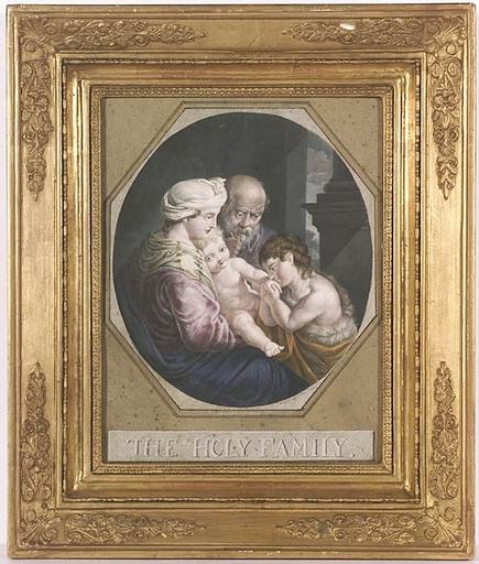 "Johann Carl SCHIESSL - Dessin-Aquarelle - ""Holy Family"", Gouache by Johann Carl Schiessl, 1807"