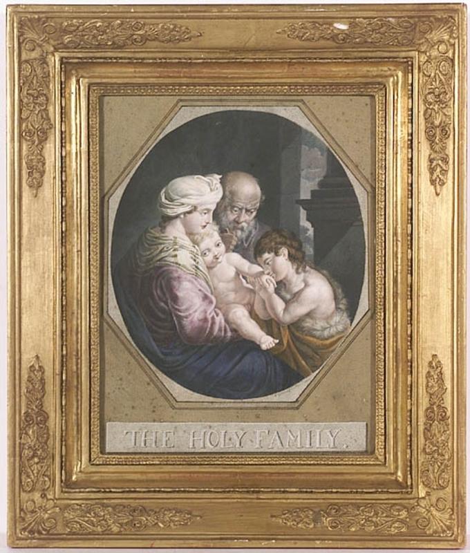 "Johann Carl SCHIESSL - Zeichnung Aquarell - ""Holy Family"", Gouache by Johann Carl Schiessl, 1807"
