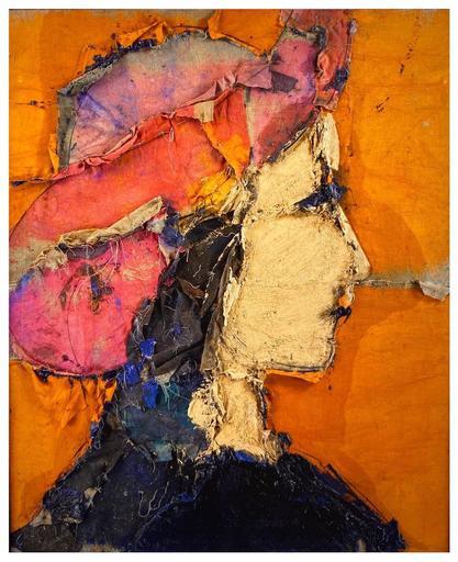 Manolo VALDÉS - Painting - perfil con sombrero carmín