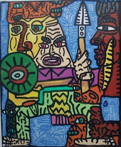 Robert COMBAS - Pittura - La bande de Conillons....