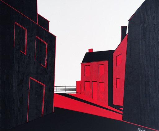 Michèle SALA - Painting - Rue du Douet