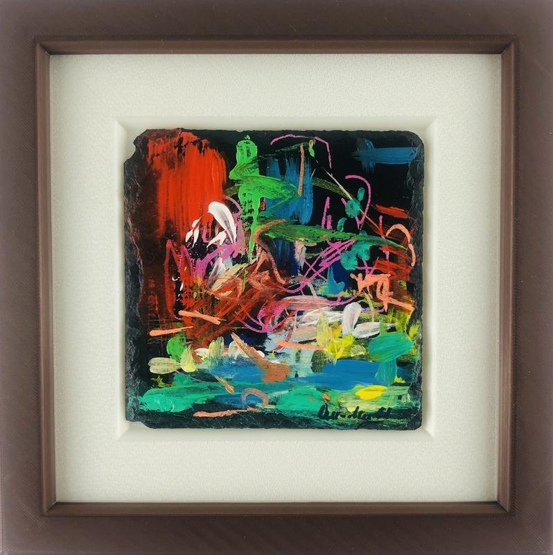 Nicole LEIDENFROST - Gemälde - Bunte Insel
