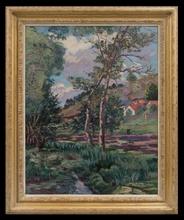 "Armand GUILLAUMIN - Pittura - Paysage de l'Ile-de-France"""