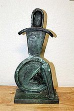 Alexander ARCHIPENKO - Sculpture-Volume - SEATED GEOMETRIC FIGURE