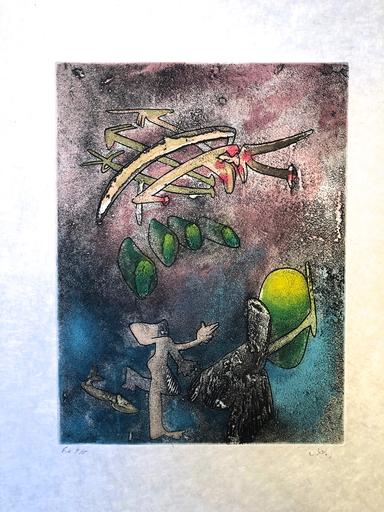 Roberto MATTA - Print-Multiple - Centre Noeds Plate V