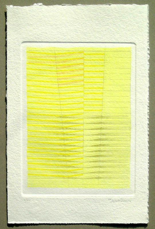 Agostino BONALUMI - Grabado - Untitled