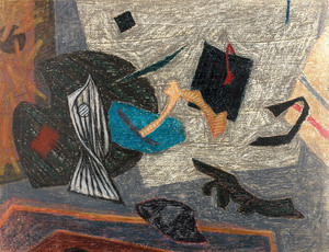 Henri GOETZ - Drawing-Watercolor - Composition