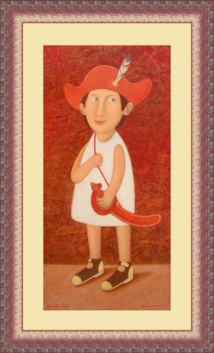 Roman ANTONOV - Peinture - Boy with sabre