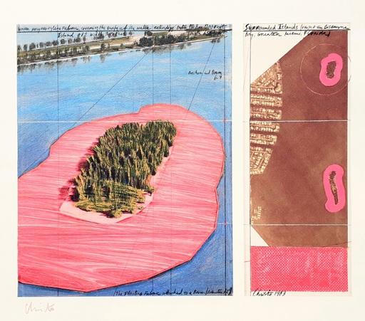 CHRISTO - Druckgrafik-Multiple - 'Surrounded islands, project for Biscane Bay