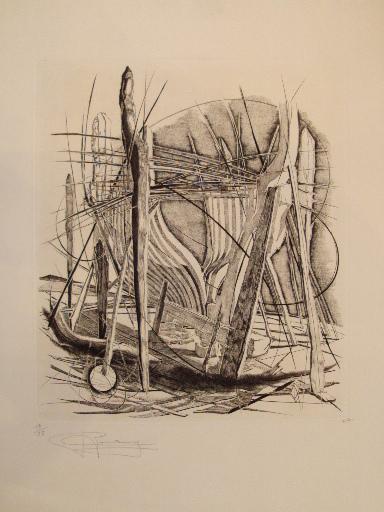 Teresa ROMAN - 版画 - Composition,1984.