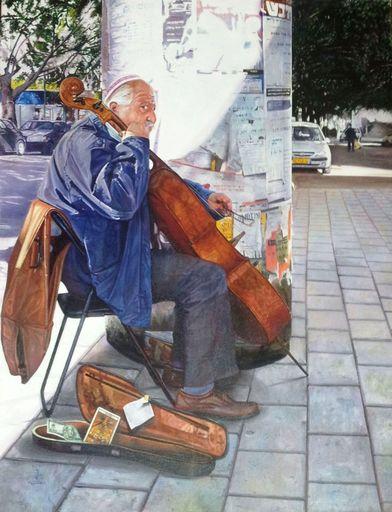 Gustavo VALENZUELA - Gemälde - The Street Musican