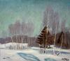 Valeriy NESTEROV - Pintura - Winter landscape